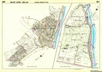 Bala, Cynwyd and Belmont Hills (Plate 9)