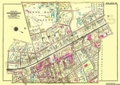 Bryn Mawr, Rosemont R.R. Stations (Plate 15)