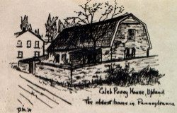 Caleb Pusey House, Upland. The oldest house in Pennsylvania