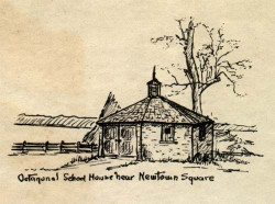 Octagonal School House Near Newtown Square