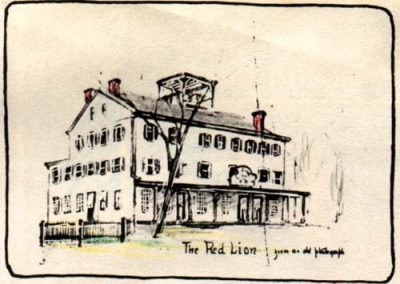The Red Lion from an old photograph