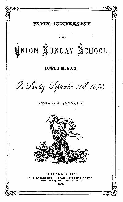 Sunday School Book Cover Page : Lower merion academy historical society