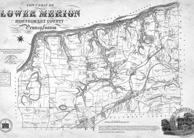 Levering Map of Lower Merion, 1851