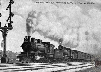 Pennsylvania Railroad: Pittsburg Express near Narberth