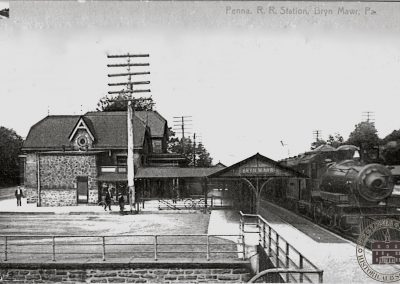 Pennsylvania Railroad Station, Bryn Mawr – Trackside