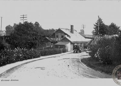 Pennsylvania Railroad Station, Cynwyd – Street Side