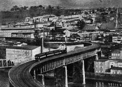 "The ""S"" Bridge at Manayunk: Day and Night Scene"