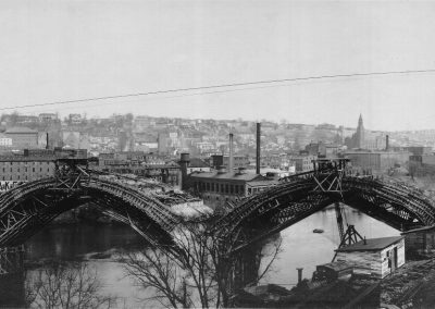 Constructing the Manayunk Bridge, 1917