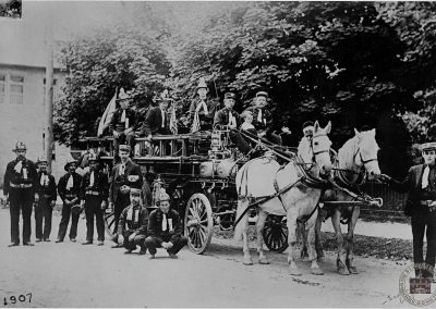 Volunteer Merion Fire Company of Ardmore, circa 1907