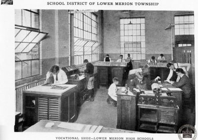 Vocational Shop, Printing Department, Lower Merion Senior High School