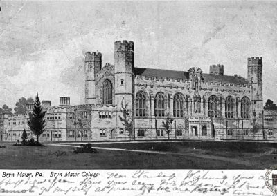 Thomas Library, Bryn Mawr College, Day and Night Scene