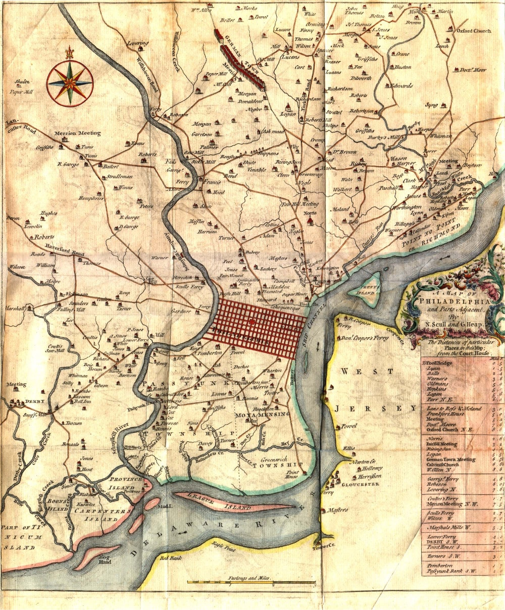 Antique Maps Philadelphia Local Antique Maps | Lower Merion Historical Society