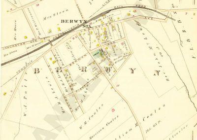 Berwyn R.R. Station detail (Plate 24)