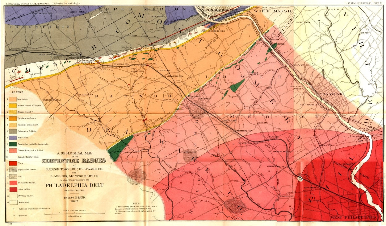 Local Antique Maps  Lower Merion Historical Society