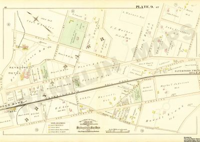 Haverford, Bryn Mawr R.R. Stations (Plate 9)