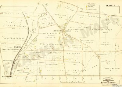 Overbrook, Merion R.R. Stations and Bala (Plate 1)